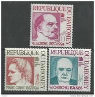 Dahomey P.A. N° 207 / 09 XX Anniversaires De La Mort De Staline Et Marie Curie De Naissance Churchill ,  Sans Char.,  TB - Benin - Dahomey (1960-...)