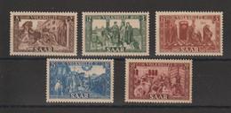 Sarre 1950 Au Profit Des Oeuvres Populaires 278-282 5 Val. ** MNH - Nuevos