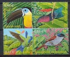 FRA-BK1-203 MDB MINT ¤ FRANKRIJK FRANCE 2003 4w In Serie ¤ BIRDS - KOLIBRIE - OISEAUX D'OUTRE-MER - Hummingbirds
