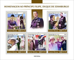 Guinea Bissau 2021, Prince Philip, Horse. Lady Diana, Bridge, 5val In BF - Brücken