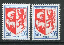 22205 FRANCE N°1468** 5c. Armoiries De Auch : Lion Sans Oeil + Normal 1966  TB - Varieties: 1960-69 Mint/hinged