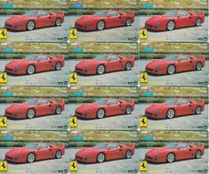 Lot De 12 Télécartes - Ferrari F40 (Japon) - Voitures