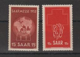 Sarre 1952 Divers 304-305 2 Val. ** MNH - Neufs