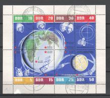 DDR , Weltraumkleinbogen Mit Tagesstempel ( 90.-) - Blocchi