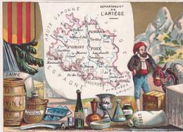 (26)   Chromo - Département De L' Ariège  (11x8 Cms) - Unclassified