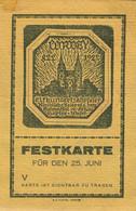"""CORVEY Höxter 1922 Deko Eintrittskarte """" Heimatfest 1100 Jahre Corvey Unter Herzog Von Ratibor """" - Tickets D'entrée"""