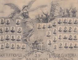 Militari - Reggimentali - Fanteria - 39° Reggimento  - Sottufficiali - F. Piccolo - Nuova  - Bella - Doppia - Reggimenti