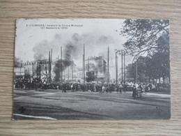 87 LIMOGES INCENDIE DU CIRQUE MUNICIPAL SEPTEMBRE 1909 ANIMEE - Limoges