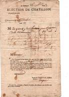 1763- Election De Chatillon-vingtièmes-Paroisse De St-Michel- - Historische Documenten
