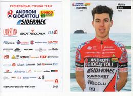 SERIE COMPLETE CARTES OFFICIELLES ANDRONI GIOCCATOLLI 2021 - Ciclismo