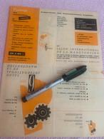 6 Iem SALON DE LA MANUTENTION 1956 - Supplies And Equipment