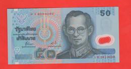 Tailandia 50 Baht Polimero Asia Banknote Thailand - Thaïlande