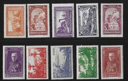 Monaco Dix Bonnes Valeurs Neufs * 1933/1937. B/TB. A Saisir! - Nuovi