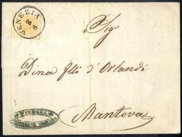 Cover 1854, 5 Cent. Giallo, Circolare Da Venezia A Mantova, Sass. 1 / 750,- - Lombardije-Venetië