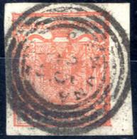 O 1850, 15 Cent. Su Carta A Mano Con Annullo Di Gemona, Ampi Margini, Sass. 3 - Lombardije-Venetië