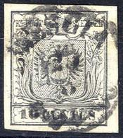 """O 1850, """"10 Cent. Grigio Argenteo"""", Prima Tiratura, Splendido Esemplare Con Ottimi Margini, Usato, Firmato Seitz (Sass.  - Lombardije-Venetië"""