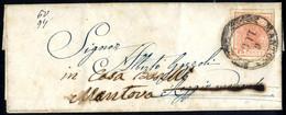 """Cover 1850, """"Rispedizione Tra Antichi Stati Italiani"""", Letterina Da Mantova 6.7.1852 Per Reggio Modenese Affrancata Con  - Lombardije-Venetië"""