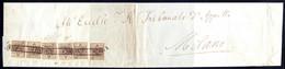 Cover 1850, 30 Cent. Bruno, Primo Tipo, Sei Esemplari Su Gran Parte Di Lettera Di Sei Porti Della Seconda Distanza Da Ma - Lombardije-Venetië