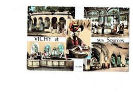 Cpm - 03 - VICHY - Sources - Femme Folklore Vielle Musique - Vichy