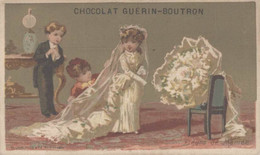 CHROMO CHOCOLAT GUERIN-BOUTRON FLEURS DE MARIEE - Guerin Boutron