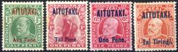 * 1912/15, Konig Edward VII, Komplette Serie 4 Werte, Ungebraucht, Die Kleinen Drei Werte Mit Leichten Rostflecken In De - Aitutaki