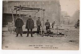GRANDE CRUE SEINE * PARIS * COUR DU HAVRE * EFFONDREMENT *GARDIEN DE LA PAIX * GENDARME * ELD - Paris Flood, 1910