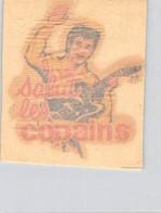 DECALCOMANIE AUTOCOLLANT SALUT LES COPAINS EDDY MITCHELL ANNEES 60 8 X 9 CM - Pegatinas