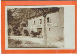 """LOZERE : Balsièges, Près Mende, Relais De Postes """"Le Luxembourg-Chez """"ROUCH"""")- TOP CARTE ANIMEE - RARE - Other Municipalities"""