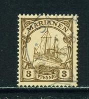 MARIANA ISLANDS  -  1901 Yacht Definitive 3pf Used As Scan - Kolonie: Marianen