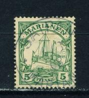 MARIANA ISLANDS  -  1901 Yacht Definitive 5pf Used As Scan - Kolonie: Marianen