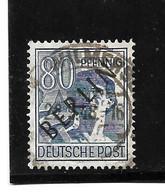 BERLIN Mi.Nr. 15 - 80 Pfg.  Schwarzaufdruck O - Oblitérés