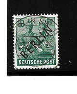 BERLIN Mi.Nr. 7b - 16 Pfg.  Schwarzaufdruck O - Oblitérés