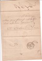 ROUEN 1846 TAXE TAMPON Façon Manuscrite 3 Décimes (locale Artisanale) Cachet Arrivée ORBEC-EN-AUGE - 1801-1848: Précurseurs XIX