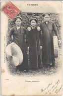 CPA Indochine Vietnam Tonkin Femmes Annamites - Vietnam
