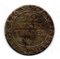 GERMAN STATES - SCHWARZBURG-SONDERHAUSEN, 1/12 Thaler, Silver, Year 1763, KM #C8 - Petites Monnaies & Autres Subdivisions