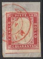 Italie Sardaigne 1855 -1863 N° 13 Roi Victor Emmanuel II  (H11) - Sardinien
