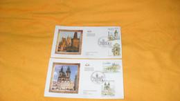 LOT 2 ENVELOPPES FDC DE 2008.../ CAPITALES EUROPEENNES PRAGUE..CACHET PARIS + TIMBRES - 2000-2009