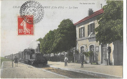 CHAMPAGNE Sur VINGEANNE: La Gare - Vve Karrer - Autres Communes