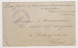 Lettre Guerre Ww1 Franchise Militaire Cachet Centre D'instruction D'aviation De Sommesous (Marne) - à Fontenay-le-Comte - Guerra De 1914-18