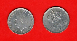 SPAIN, 1975 , 25 Pesetas,  Juan Carlos, Copper-Nickel,   KM 808, C3537 - 25 Peseta