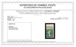 YV 188A N* (légère Et Propre) , Signé CALVES + Certificat , Semeuse Mineraline Très Fraiche Cote 500+ Euros - Nuovi