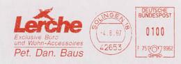 127  Alouette: Ema D'Allemagne, 1997 - Lark  Meter Stamp From Solingen, Germany - Sperlingsvögel & Singvögel
