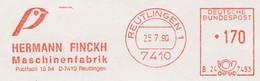 127  Pinson: Ema D'Allemagne, 1990 - Finch Meter Stamp From Reutlingen, Germany - Sperlingsvögel & Singvögel