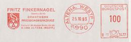 127  Pinson: Ema D'Allemagne, 1993 - Finch Meter Stamp From Altena, Germany - Sperlingsvögel & Singvögel