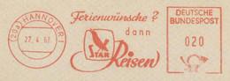 127  Étourneau: Ema D'Allemagne, 1962 - Starling Meter Stamp From Hannover, Germany - Sperlingsvögel & Singvögel