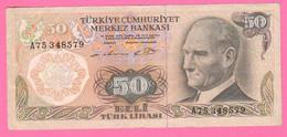 Turchia 50 Lire 1976 Turkey Elli Lirasi Atatürk   Banknote - Turquie