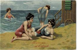 Souvenir D'Ostende Circulée En 1910 - Oostende