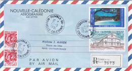 NOUVELLE-CALEDONIE :  Aérogramme 15 En Recommandé De Dumbéa Avec Complément - Entiers Postaux