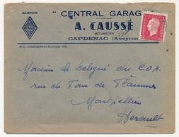 """FRANCE - Env. En-tête """"Agence Renault - Central Garage A. CAUSSÉ - CAPDENAC (Aveyron)"""" Affr Dulac - Automobil"""