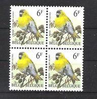 OCB 2665 Postfris Zonder Scharnier ** In Blok Van 4 - 1985-.. Vogels (Buzin)